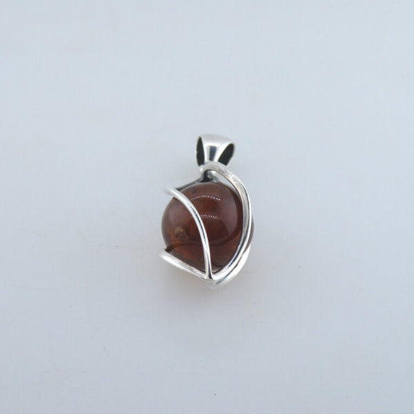 Amber Pendant with Sterling Silver