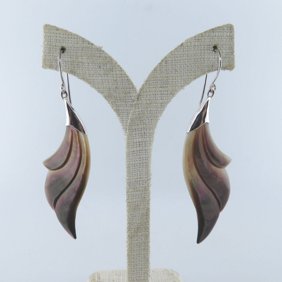 Mother of Pearl Earrings with Sterling Silver