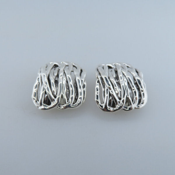 Electroformed Sterling Silver Earrings