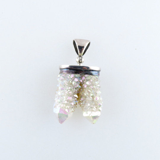 Twin Spirit Quartz Pendant with Sterling Silver