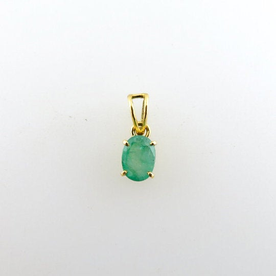 Emerald Pendant with 18K Gold