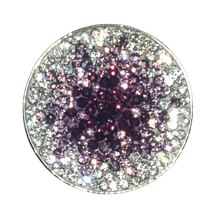 Navika - Crystal - Purple Haze Micro Pave Golf Ball Marker