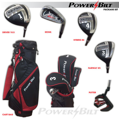 Powerbilt - Men's EX750 Package Right Handed Golf Set