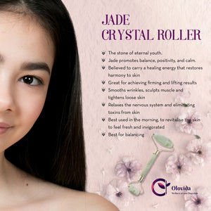 Green Jade Natural Crystal Roller