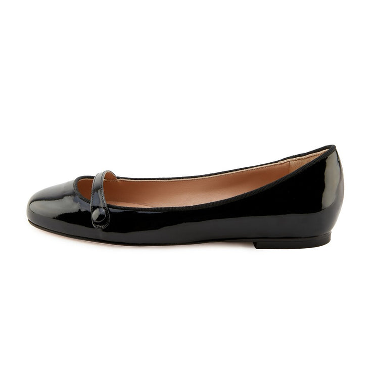 Black Round Toe Flat shoes
