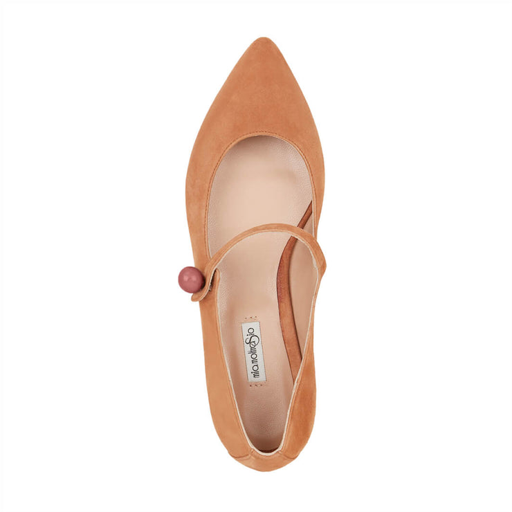 Light Brown Suede Flat Shoes