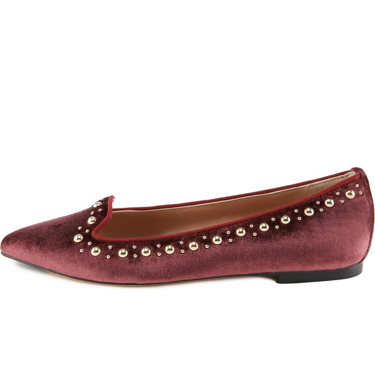 Loafer Velluto Bordeaux