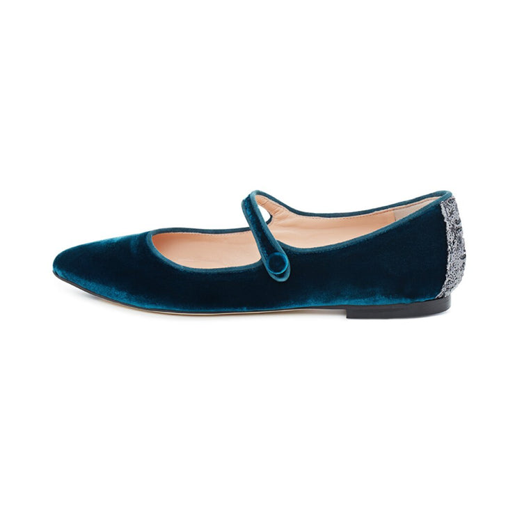 Octane Velvet Flat Shoes