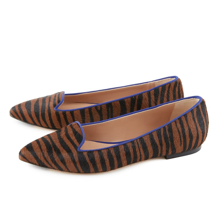 Zebra-striped Loafers