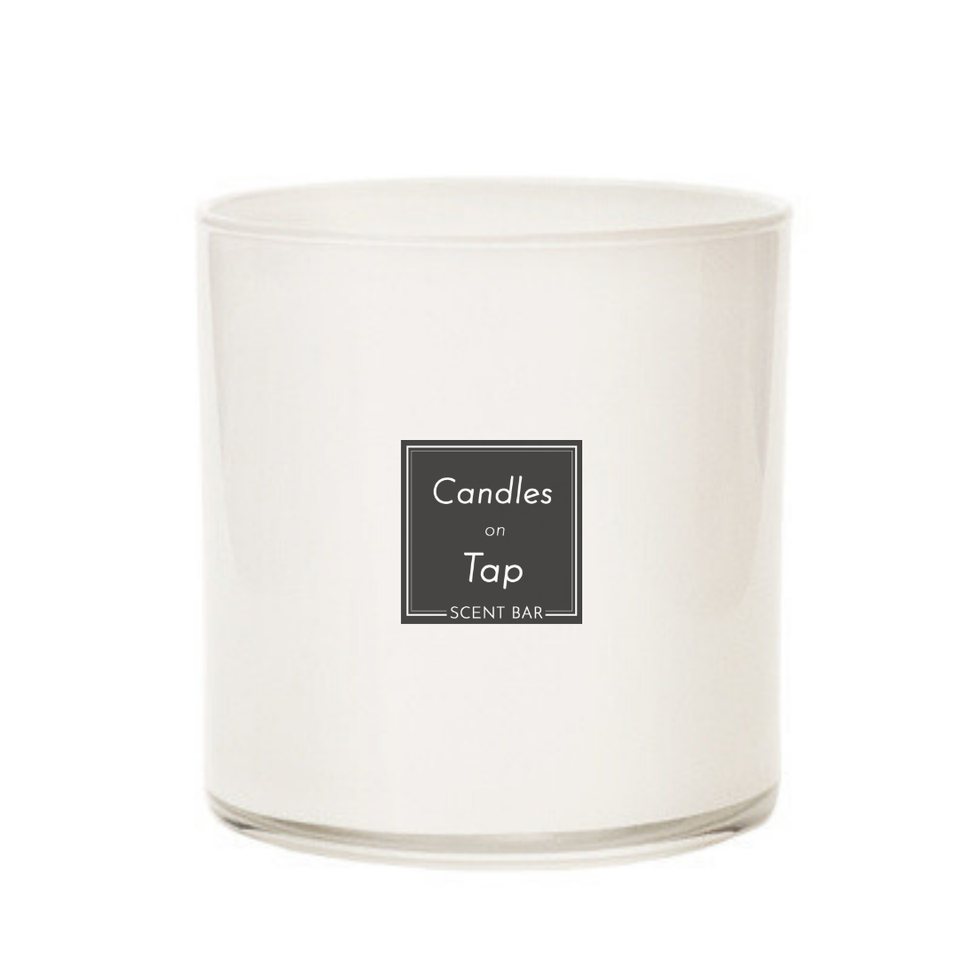 White Candle Jar