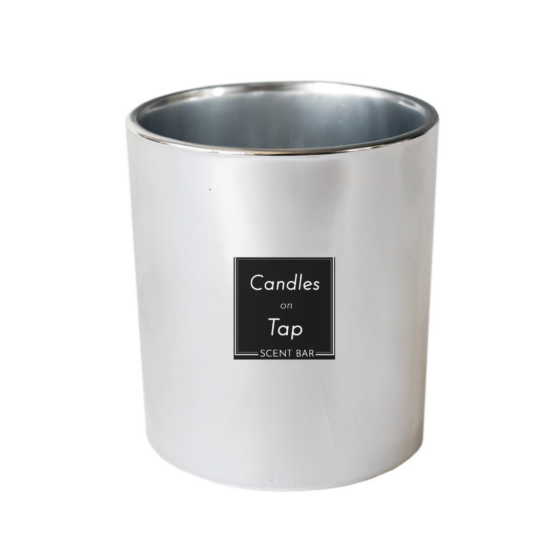 Silver Candle Jar