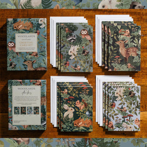 WOODLANDS Forest Greeting Cards - Boxed Set of 12 cards and envelopes