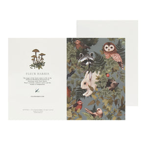 WOODLANDS - Dusty Blue - Single Card and Envelope