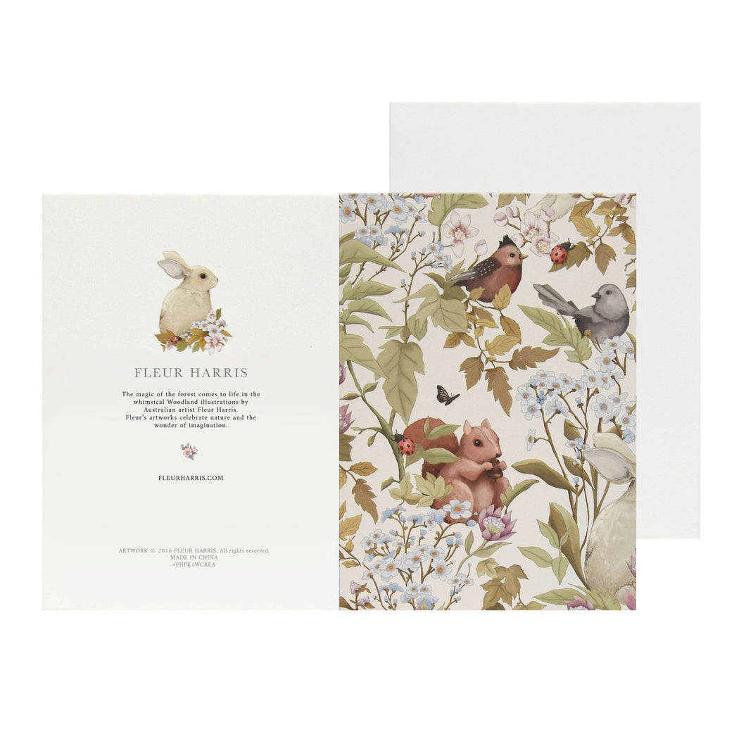 WOODLANDS - Cream - Single Card and Envelope