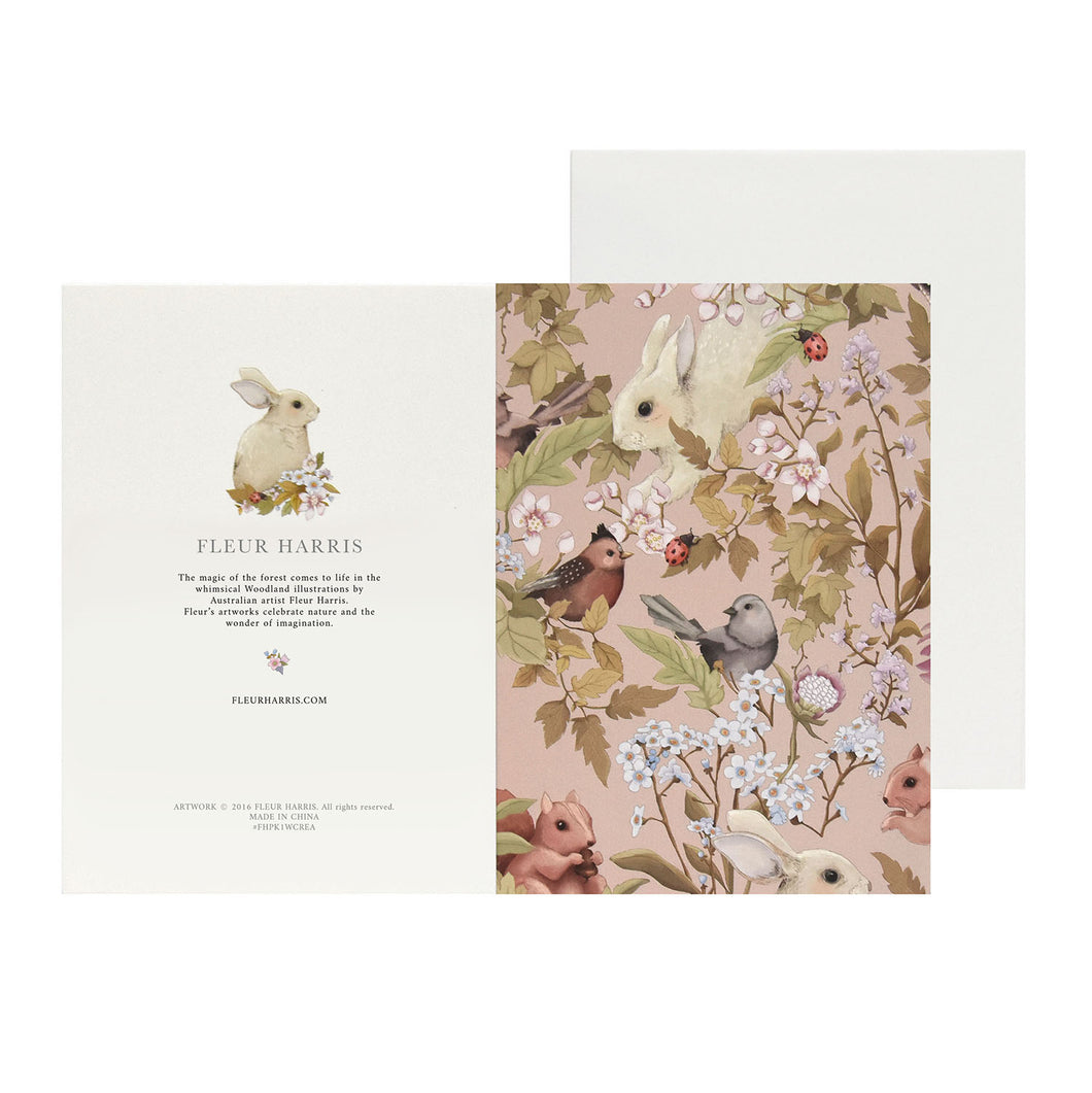 WOODLANDS - Blush - Single Card and Envelope