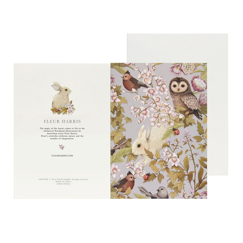 WOODLANDS - Lavender - Single Card and Envelope