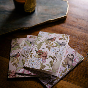 WOODLANDS Floral Greeting Cards - Boxed set of 12 cards and envelopes