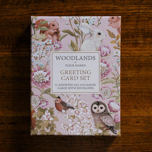 *PRE-ORDER* WOODLANDS Floral Greeting Cards - Boxed set of 12 cards and envelopes