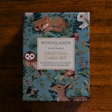 Load image into Gallery viewer, WOODLANDS Forest Greeting Cards - Boxed Set of 12 cards and envelopes