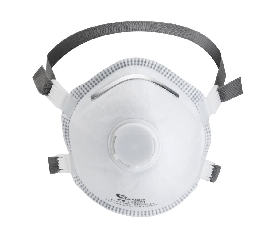 FFP3 Valved Moulded Face Mask - EN Certified - Single -In Stock