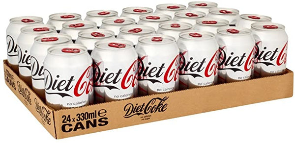 Coca Cola Diet Cans 24 x 330ml