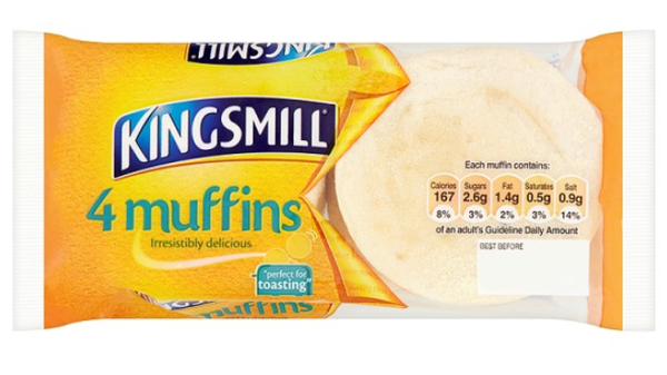 Kingsmill Breakfast Muffins 1 x 4
