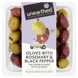 Unearthed Olives with Rosemary & Pepper 230g