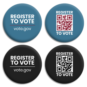 Register To Vote Button Set (Set of 4)