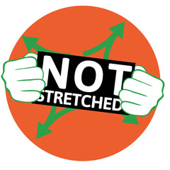 Not stretched or inflated