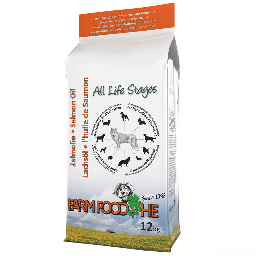 Pure Cold Pressed Dog Food with Salmon Oil