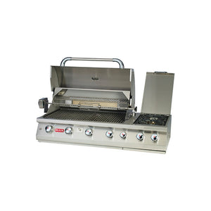 BULL 7 Burner Built in Natural Gas BBQ Grill Head with Double Side Burner