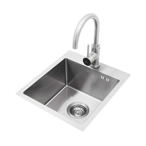 BULL Outdoor Kitchen Stainless Steel Sink with Faucet - Size options