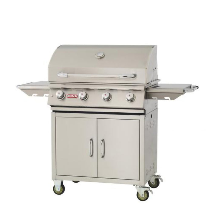 BULL LONESTAR 4 Burner Propane Gas BBQ Grill With Cart