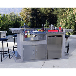 BULL Outdoor Kitchen 76cm Bar Caddy Built in Bar Centre with Sink