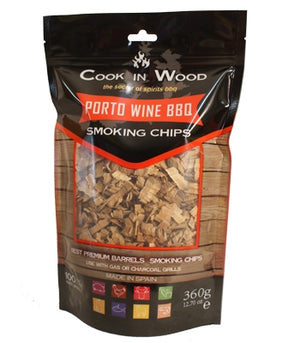 Cook in Wood Porto Wine Smoking Wood Chips 360g