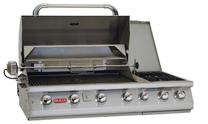 BULL 7 Burner Built in Propane BBQ Grill Head with Double Side Burner
