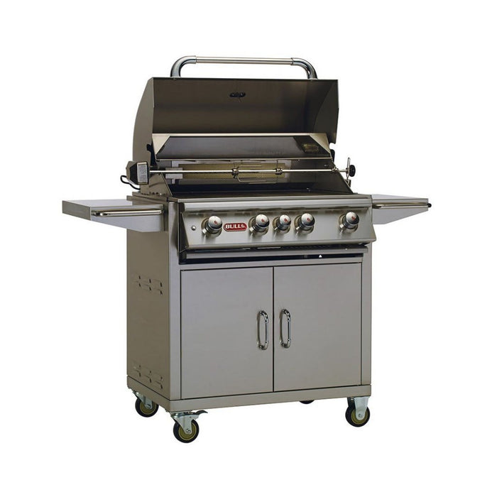 BULL ANGUS 5 Burner Natural Gas BBQ with Cart and Rotisserie