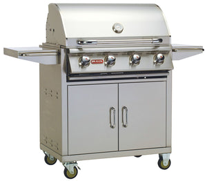 BULL OUTLAW 4 Burner Propane Gas BBQ Grill with Cart PRE ORDER FOR END OF MAY DELIVERY