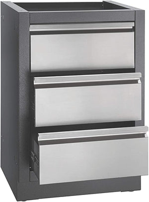 Napoleon Oasis Modular Two Drawer Kitchen Cabinet IM-2DC- False Top Drawer