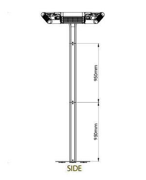 Riviera Elite Free Standing Electric Outdoor Commercial Patio heater