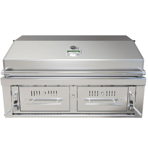 "Sunstone® Emerald Series 42"" Gas/Charcoal/Wood Hybrid Built in Grill Head"