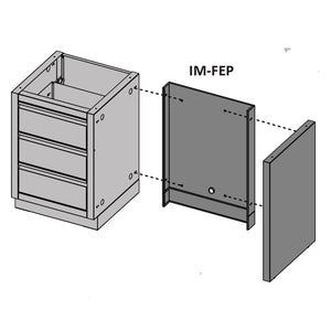 Napoleon Oasis Modular Fridge End and Back Panel Kit IM-FEP