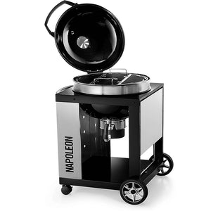 Napoleon Charcoal Pro 22 Kettle BBQ Grill With Cart PRO22K