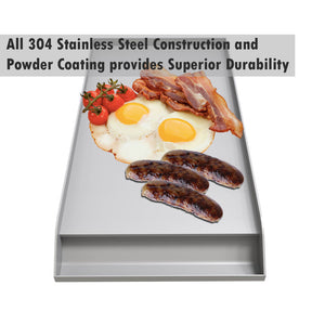 Sunstone Ruby Solid Steel Powder Coated Cooking Griddle