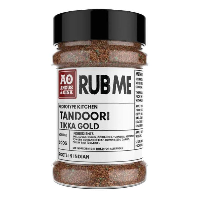 Angus and Oink Tandoori Gold Tikka Rub 200g Shaker