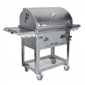 BULL Bison Stainless Steel Charcoal BBQ with Cart PRE ORDER FOR END OF MAY DELIVERY