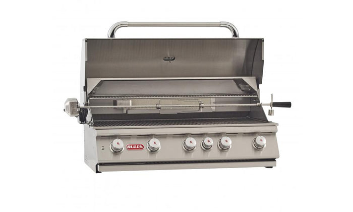 BULL BRAHMA 6 Burner Built in Natural Gas BBQ Grill Head with Rotisserie