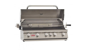 BULL BRAHMA 6 Burner Built in Propane Gas BBQ Grill Head with Rotisserie