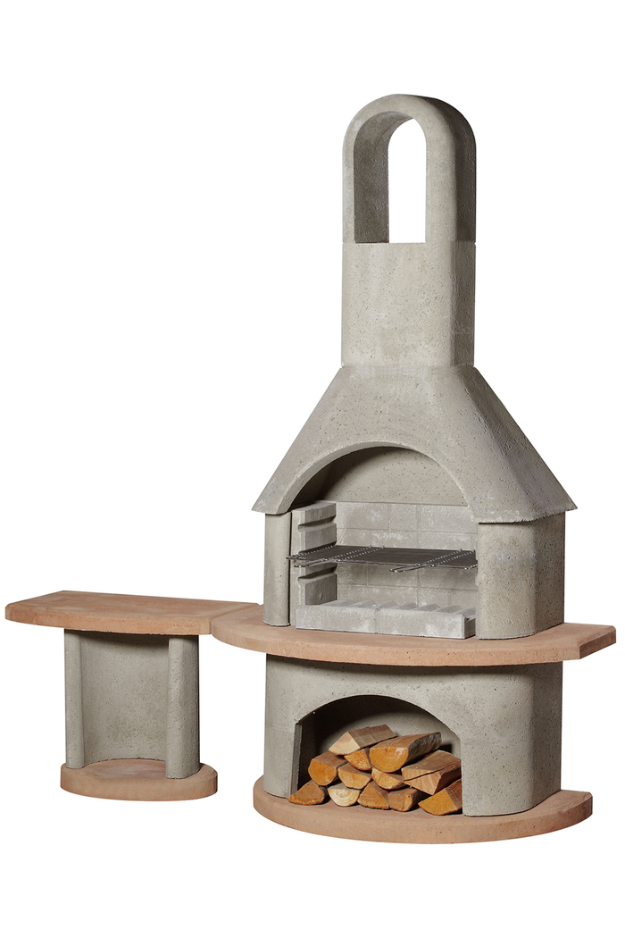 Buschbeck Carmen Masonry Barbecue With Side Table