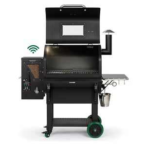 Green Mountain Grills LEDGE - PRIME PLUS - WOOD PELLET SMOKER - Black Lid